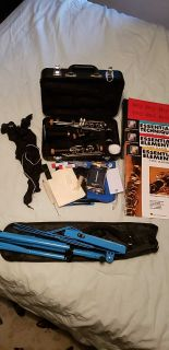 Complete set-up for New Clarinet Student! Vito Clarinet, Stand, Accessories & More!