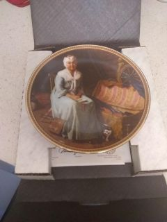 """Edwin M. Knowles China Co. """"reminiscing In The Quiet"""" Collector Plate W/ COA"""