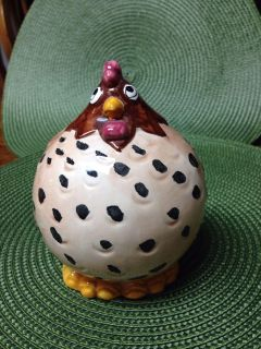 """Small Chicken Bank. 5"""" tall. Ceramic. Pick up at Target in McCalla on Thursdays 5:15 to 6:00pm."""