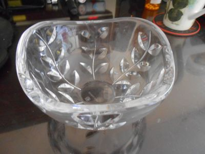 Tiffany & Co. Crystal Floral Vine Bowl