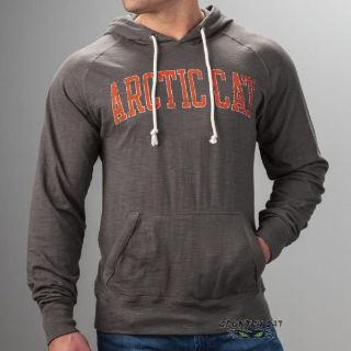 Sell Arctic Cat Men's Slub Non-fleece Cotton Vintage Wash Hoodie - Gray - 5279-48_ motorcycle in Sauk Centre, Minnesota, United States, for US $47.99