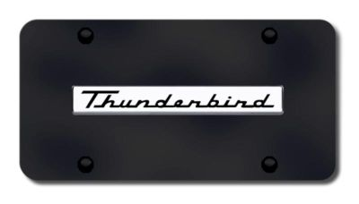 Sell Ford Thunderbird Name Chrome on Black License Plate Made in USA Genuine motorcycle in San Tan Valley, Arizona, US, for US $36.43