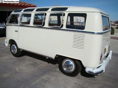 Fully restored factory 1966 Lotus White Deluxe Bus