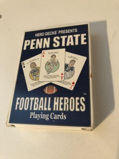 Penn state football hero s playing cards