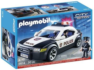 New! PLAYMOBIL Police Car / Cruiser 30pc Set