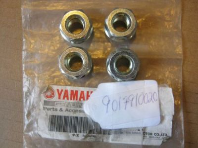 Find YAMAHA SET OF 4 WHEEL LUG NUTS GRIZZLY YFM 550 700 2008-2016 NOS OEM 90179-10020 motorcycle in Yale, Michigan, United States