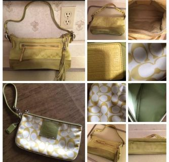 Authentic coach purse and clutch combo