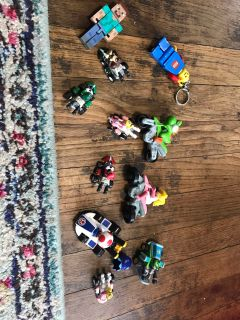 Lot #5 Mario lot. Minecraft and LEGO guy too. $3/all