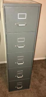 Metal 5 Drawer File Cabinet