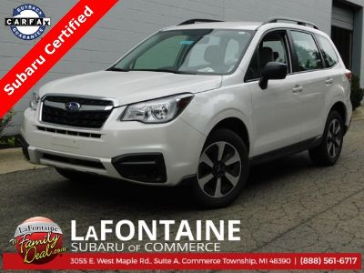 2018 Subaru Forester 2.5i (Crystal White Pearl)