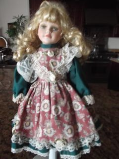 "Victorian Porcelain Doll 16"" by Susan Harris"