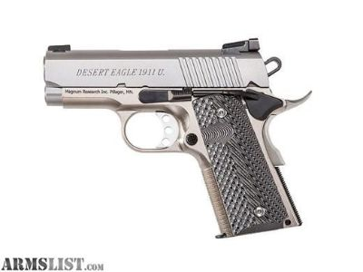 "For Sale: NEW IN CASE Magnum Research, 1911USS, Undercover, Semi-automatic, Compact, 45ACP, 3"" Barrel"