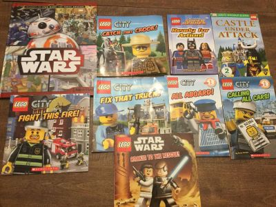 LEGO and Star Wars Book Lot Plus one more!