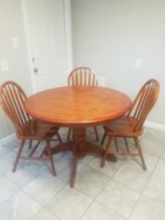 Real Wood Table and 3 chairs