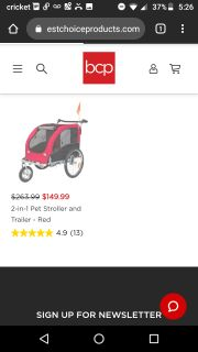 2 in one pet stroller red