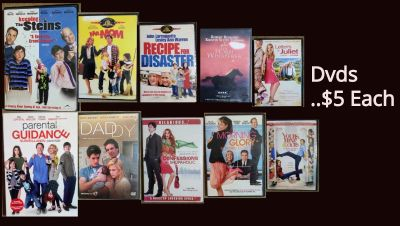 Mostly comedy Dvds Ex condition $5 Each