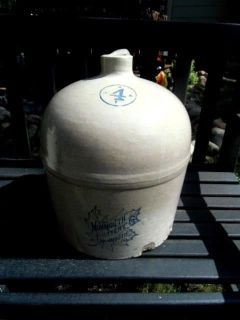monmouth pottery potteries 4 gallon jug massive antique