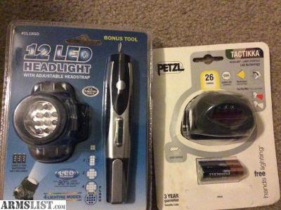 For Sale: NIB Petzl Tactikka + Headlamp and HB Tools Headlamp