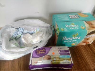Diapers size newborn 2 and 3.