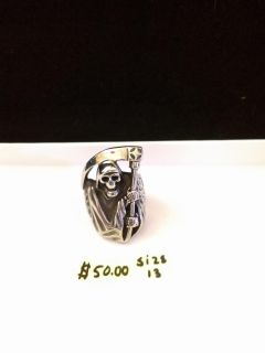 Ring-size 13-Grim reaper