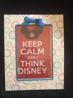 Keep Calm and think Disney! Framed 4 x6 print You can set up against a piece of furniture or put it in an easel or attach a magnet