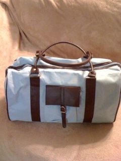REDUCED!NEW!Baby blue and brown overnight bag