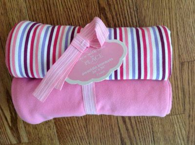 New with Tags the Children's Place Baby Girl Swaddle Blanket 2-Pack