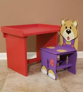 Kids Toddler Desk Table with Chair