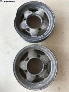 Rare pair of 15x4 1/2 La Paz magnesium rims