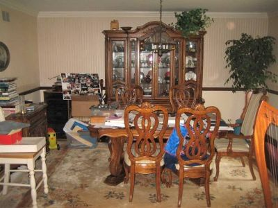 Beautiful Dining Room Set - Table, 6 Chairs, China Cabinet, Server