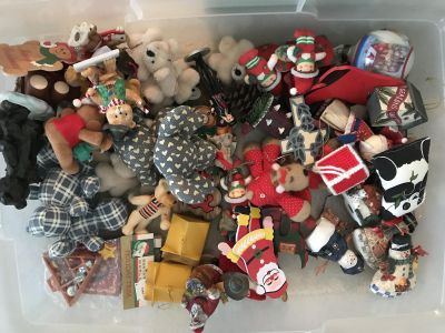 Lot of various Christmas ornaments