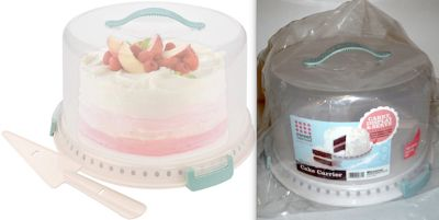 New! Sweet Creations 3pc Cake Carrier Set