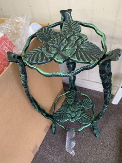 VERY HEAVY IRON PLANT STAND (ORIGINAL PAINT) CP