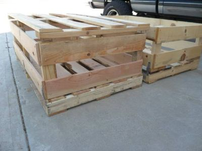 LARGE HEAVY-DUTY WOOD CRATES FOR SALE...