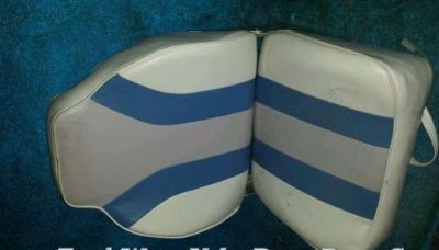 Find Grey Blue & White Premium Marine Captains Chair Boat seat Garelick Todd Wise motorcycle in North Port, Florida, United States, for US $75.00