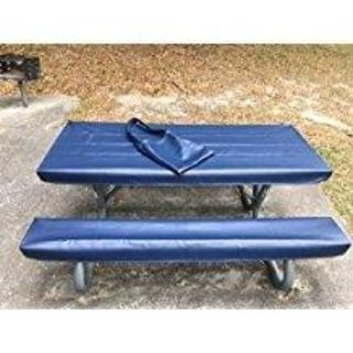 Made to order picnic table covers with handy storage bag from heavy vinyl - various colors and sizes starting at