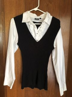 Women s Lg. One Piece Blouse/Vest (1 Red, 1 black) - 2 for $10