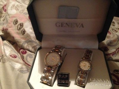NEW matching woman and mans watch