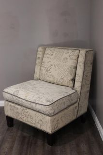 Comfortable Text Printed Accent Chair