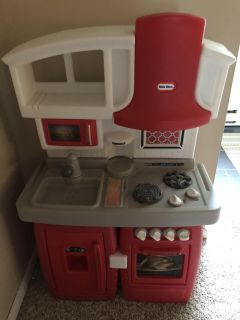 Kitchen with play food
