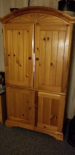 Solid Pine TV armoire