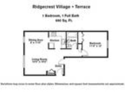Ridgecrest Village - One BR Upper Level w/ A/C