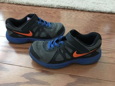 Nike Sz. 2Y, gently used, would be a great play shoe, never washed in a machine