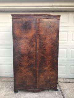 Solid wood antique armoire