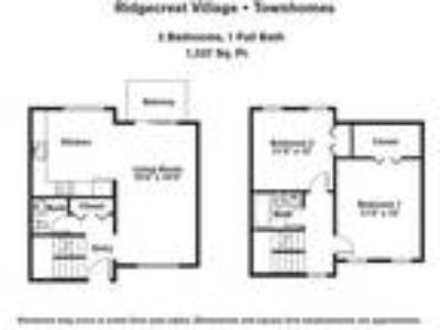 Ridgecrest Village - Two BR Townhome w/ Extra Storage
