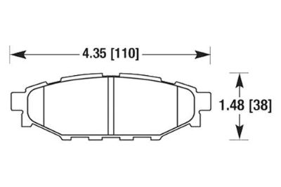 Purchase HAWK HB557N.545 - 09-10 Subaru Forester Rear Brake Pads motorcycle in Chino, California, US, for US $121.02