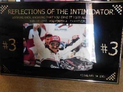 Dale Earnhardt #3 Holographic Victory Poster w/ frame
