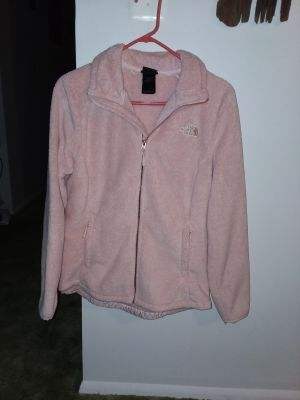 Women's The North Face fleece size medium light pink like new excellent condition!