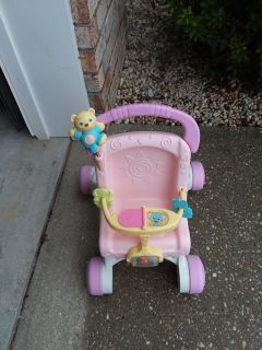 Little girls baby doll stroller very good used condition