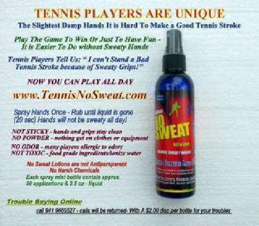 TENNIS, PickleBall,NoSweatLotion,No Sweaty Grips, Better Tennis Returns